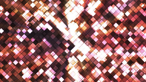Broadcast Twinkling Squared Diamonds, Brown, Abstract, Loopable, 4K Animation