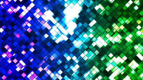 Broadcast Twinkling Squared Diamonds, Blue Green, Abstract, Loopable, 4K Animation