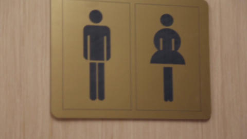 The sign of the toilet Footage