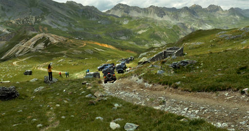 4x4, Offroad, Western Alps, Italy Footage