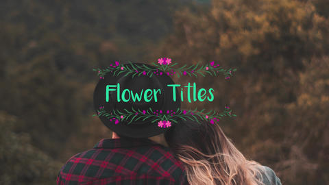 Flower Titles After Effects Template