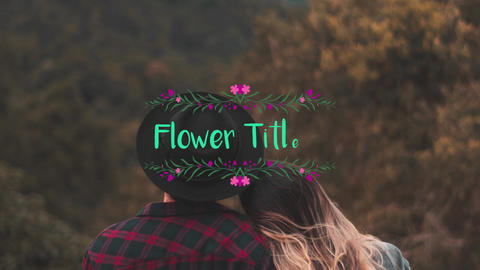 Flower Titles Motion Graphics Template