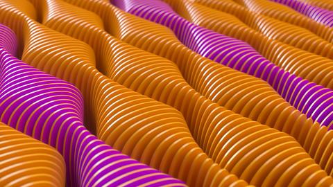 Abstract beautiful shiny colorful wavy shapes. Seamless loop Animation