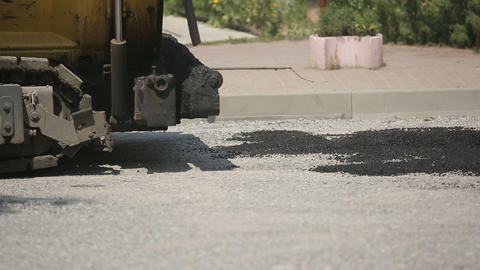 Laying Asphalt Special Equipment Live Action