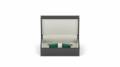 Box with gold cufflinks Animation