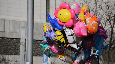 Balloons for Children at Fair Downtown Live Action
