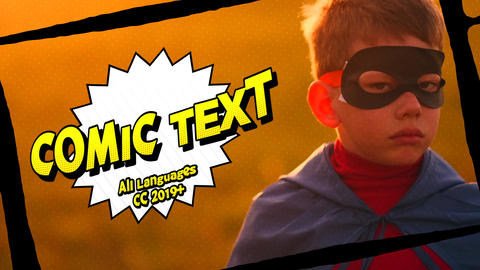 Comic Text Motion Graphics Template