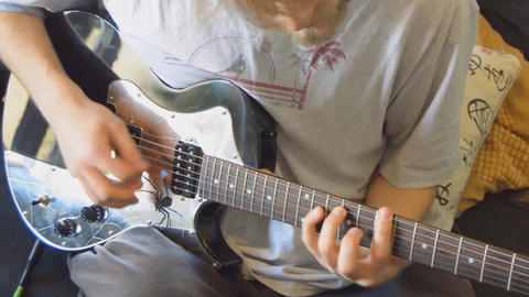 Aggressive Guitar Finger Picking Live Action