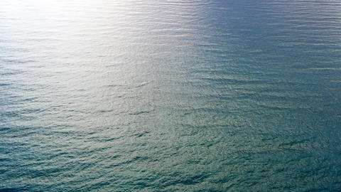 Minimalistic clean tranquil seascape. High angle view Live Action