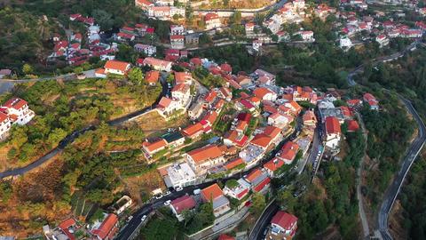 Village of Agros village. Limassol District Cyprus Live Action