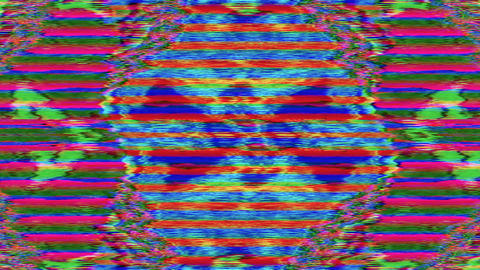Abstract bad trip effect light transformations shimmering background. Looped Live Action