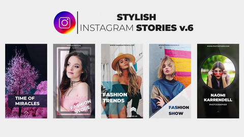 Stylish Instagram Stories v 6 After Effects Template