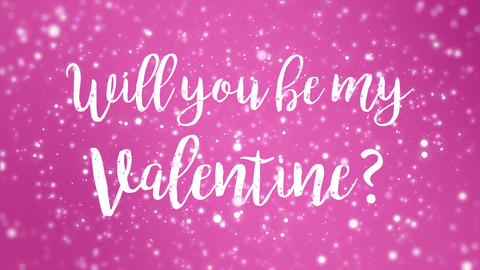 Animated pink Valentines Day card Animation