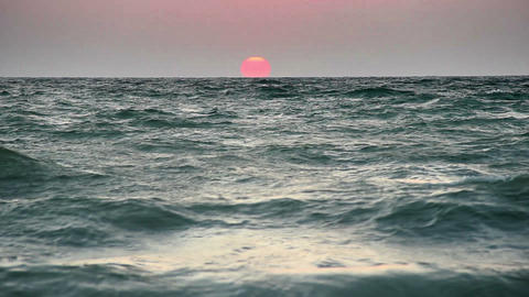 sunrise over the sea Footage