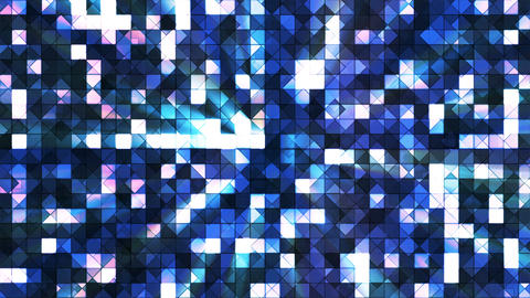 Broadcast Twinkling Hi-Tech Squares, Blue, Abstract, Loopable, 4K Animation