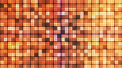 Broadcast Twinkling Hi-Tech Cubes, Brown, Abstract, Loopable, 4K Animation
