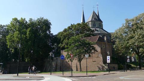 Saint Nicolaas Church and Bike path Footage