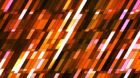 Broadcast Twinkling Slant Hi-Tech Small Bars, Orange, Abstract, Loopable, 4K Animation