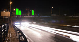Urban city traffic trails at the night Footage
