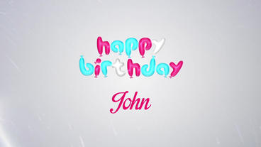 Happy Birthday Balloons Text with Confetti PopUp After Effects Project