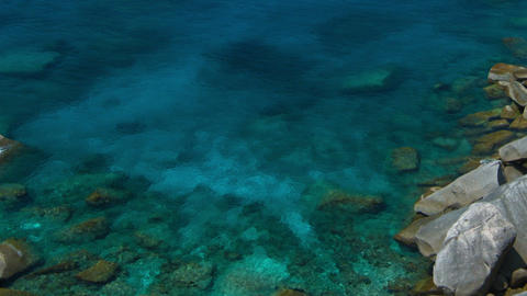 Overlooking Shot of a Bay at one of Thailand's Similan Islands Footage