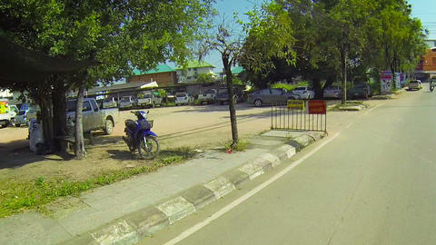 THAILAND - CIRCA DEC 2013: Timelapse shot of typical road traffic in Thailand Live Action
