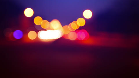 Blurred Traffic lights of the big city Footage