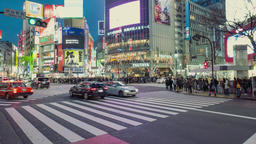 TOKYO - APRIL 01: Shibuya Crossing April, 2016 in Tokyo, JP. The crossing is one Footage
