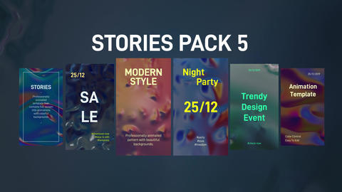 Stories Pack 5: Liquid After Effects Template