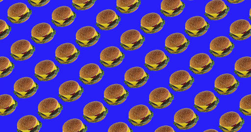 Burger background for video fastfood with chromakey Animation