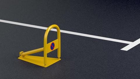 Parking lock on the asphalt Animation