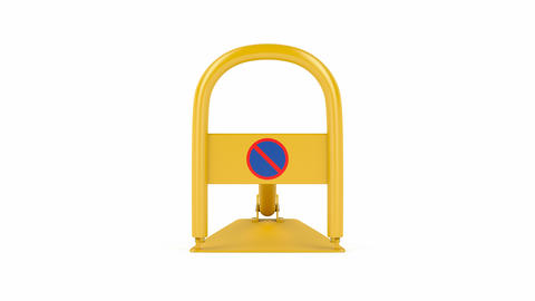Yellow foldable parking lock Animation