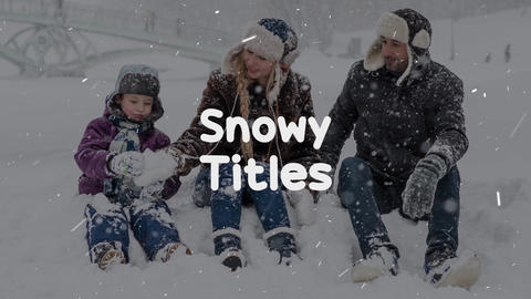 Snowy Titles Apple Motion Template