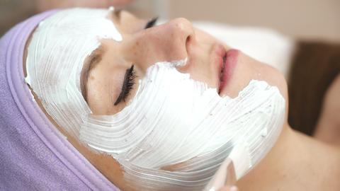 Facial mask at spa salon Live Action