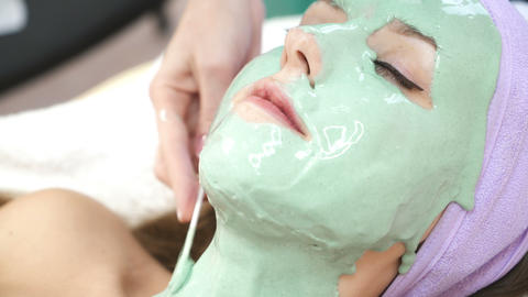 Facial mask at spa salon Live Action