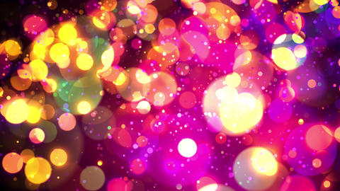 Epic Colorful Particle Rain Like Out Of Focus Lights Seamlessly Looping Background in VJ Style Animation