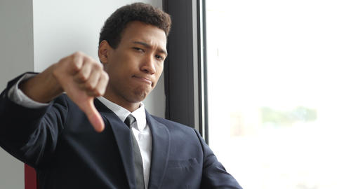 Thumbs Down By Upset Businessman Live Action