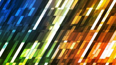 Broadcast Twinkling Slant Hi-Tech Small Bars, Multi Color, Abstract, Loop, 4K Animation