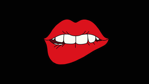 Lips bite Animation