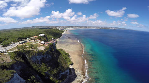 GUAM TWO LOVERS POINT & Mariana Sea-1 Footage