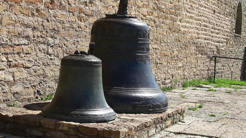 Two church bells from the fortress wall close to Footage