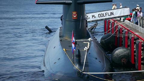 Dutch submarine Dolphin Footage