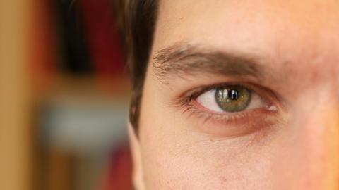 Close Up of Man Eye Footage