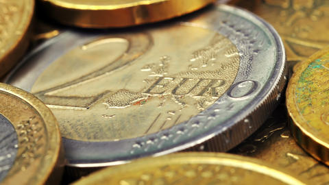 Two Euro coin Footage