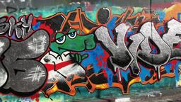 English graffiti on London wall Footage