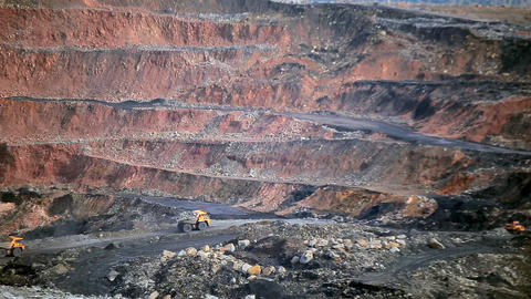 Panorama open coal pit Live Action