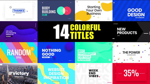 14 Colorful and Creative Animated Titles After Effects Template