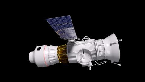 Space Satellite Animation