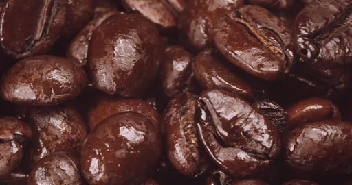 Macro Shot of Dark Coffee Beans Live Action