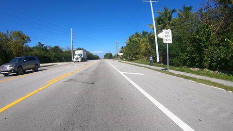 Timelapse - Driving down the road to Key West - Florida Keys Road - first person Live Action